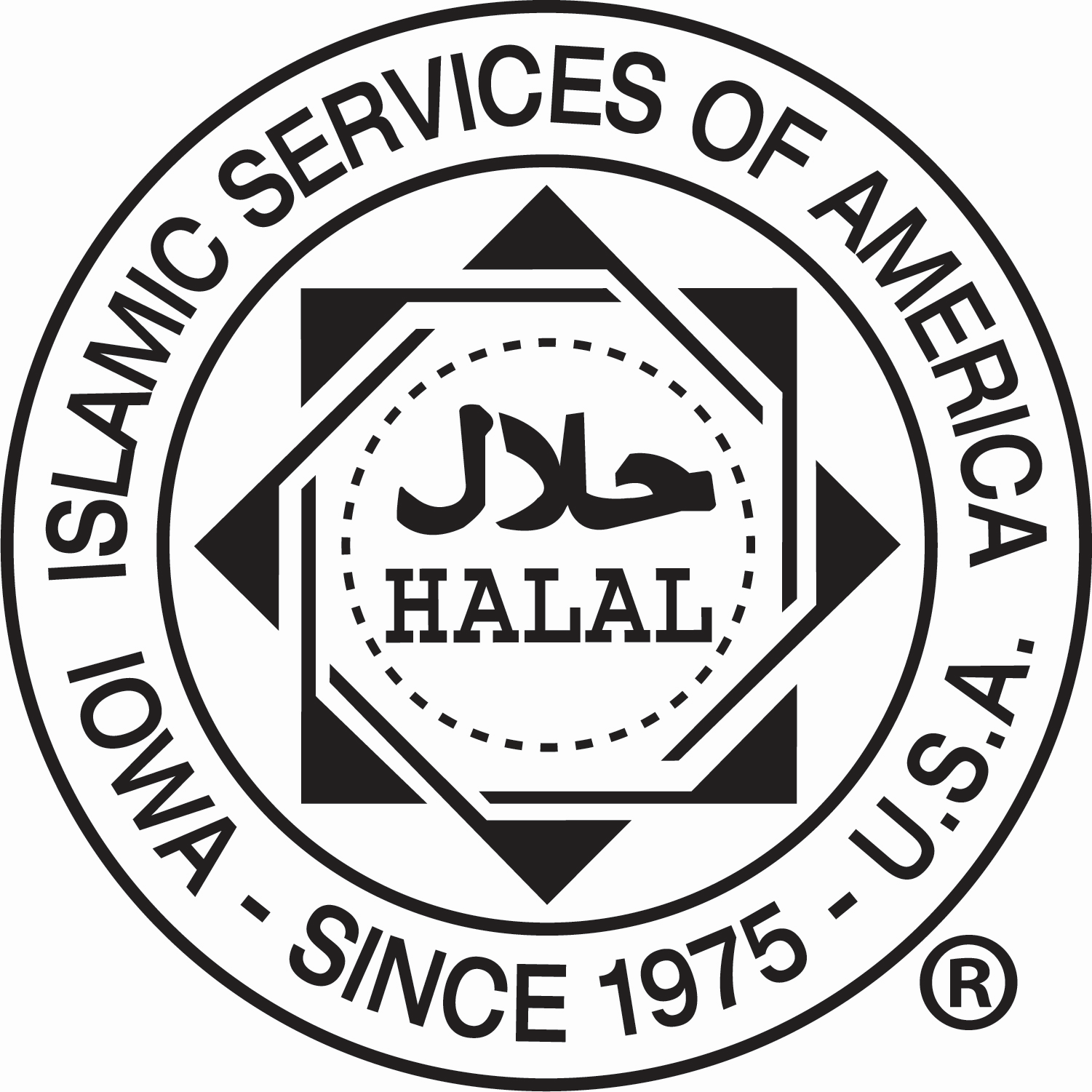 Islamic Services of America's halal-certified seal 2.