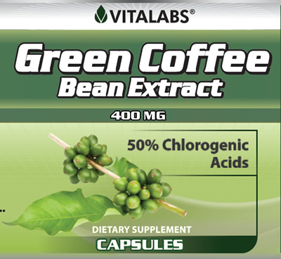 Private Label Green Coffee Bean 400mg Extract