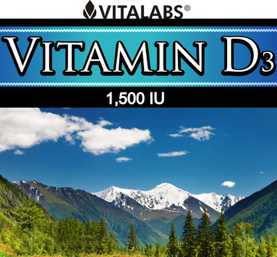 Private Label Vitamin D-3 1500IU